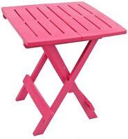 Progarden Pink Resin Plastic Garden Table  Folding Outdoor Camping Side Table
