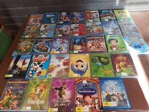 32 ASSORTED WALT DISNEY KIDS CHILDRENS MOVIE DVD DVDS FROZEN BUGS LIFE BFG