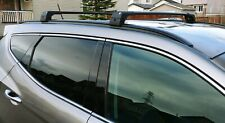 BMW X6 BLACK ALU TOP ROOF RACK CROSS BAR CROSS RAIL LOCKABLE 2014-2018