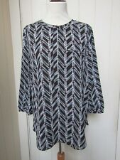 NYDJ brown patterned tunic top - BNWOT - size Medium