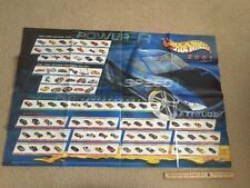 RARE 2001 HOT WHEELS FACTORY POSTER WITH TREASURE HUNTS LISTED & FIRST EDITIONS