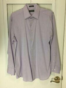 Men's Purple Button-Down Collared Long Sleeve Dress Shirt Sz 16-16.5 34/35