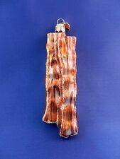 Bacon Old World Christmas Ornament Tree Blown Glass Food Chef  NWT 32208