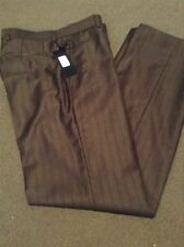 Unbranded 100% Wool Dress-Flat Front Pants for Men
