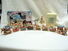 Cherished Teddies Santa Express Train Set 22 Pieces Complete NIBs