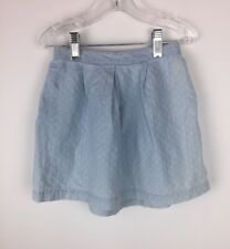 Gap Girls Chambray Embroidered Skirt Size 5t