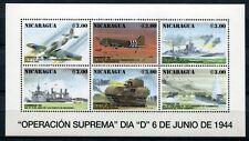 Nicaragua 1994 2.Weltkrieg World War D-Day Panzer Schiffe 3398-3403 ** RAR