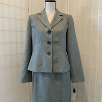 New w/ Tags Evan Picone Gray Skirt Suit Size 10 MSRP $200.00 Pacific Heights Ice