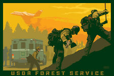 US Forest Service Fire suppression art print Hot Shots artist signed
