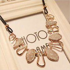 Women Fashion Choker Bib Statement Charm Collar Pendant Chain Necklace Jewelry