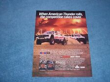 "1989 Chevy Truck S-10 Off-Road Racing Vintage Ad ""When American Thunder Rolls..."