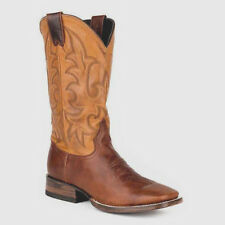 Stetson Men's Floppy Top US 13 D Brown Leather Pull On Western Work Boots $270