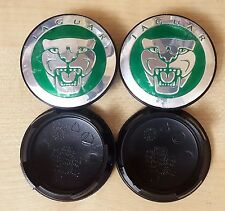 4x 59MM JAGUAR GREEN ALLOY WHEEL CENTRE CAPS FITS XJ XJR XJ6 XF X S TYPE