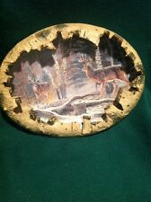 Al Agnew Woodland Royalty Two Big Buck Deer Large Racks Crown Princes 3-D Plate