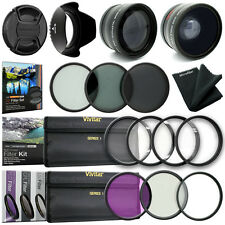 52MM Wide Angle Lens + Close Up + UV CPL FLD Filter Kit for Nikon 18-55mm Lens