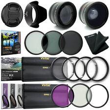 52MM Wide Angle Lens + Close Up + UV CPL FLD Filter Kit for Nikon 18-55mm Lens