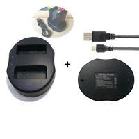 EN-EL9 EL9A Battery DUAL USB Charger for Nikon D40 D40X D60 D3000 D5000 D3X A2