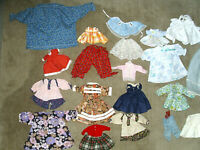 Huge Lot Doll's Clothes Mid Century & Up 38 Dresses Skirts Tops See All Photos