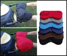 Pram Pushchair Buggy Hand Muffs Warmer Fleece Winter Handmuff Gloves Mittens NEW