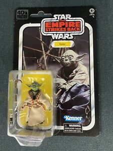 Star Wars Empire Strikes Back ESB 40th Anniversary Black Series Yoda Figure