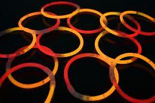 DirectGlow 200ct Orange/Red Glow Bracelets Glow in The Dark Party Favors