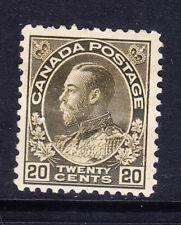 Canada 1925 Edoardo VII SG213 20c Verde Oliva-montato Nuovo di zecca. catalogo £ 45