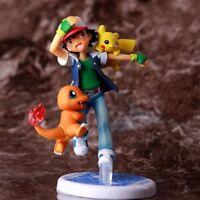4.1''Pokemon Pocket Monster Ash Ketchum Pikachu Charmander Action Figure toys