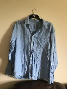 M&S Mens XXL Linen Shirt