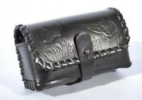 Leather Cartridge Holder Rifle Ammo Pouch Hunting 16 12 GA Wallet Case Shell New