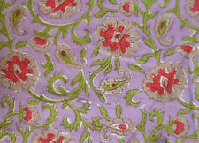 Hand block Print 3 Yard Indian Running Loose Cotton Fabrics Printed Decor