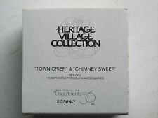 Dept 56,Heritage Village Accessories - Town Chier & Chimney Sweep #5569-7