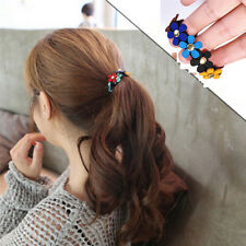 2x PonyTail Rubber  Hair Band Elastic Tie Girl Hairband  Rope Ring Gift For Girl