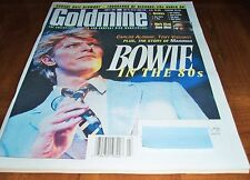 RARE 1997 DAVID BOWIE ISSUE - BOWIE IN THE 80s - GOLDMINE MAGAZINE
