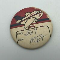 Vintage US AIR AIRLINES Unaccompanied Child Minor Badge Button Plus Kiddie Wings