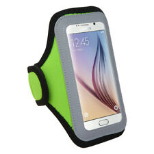 Neon Green Sport Armband Case Phone Pouch For HTC Desire 555 / 530 / 626