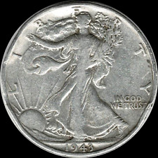 A 1943 P Walking Liberty Half Dollar 90% SILVER US Mint (Exact Coin Shown) R71