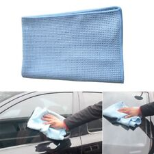 1pc High Quality Blue Auto Car Drying Care Towel Soft Waffle Weave Microfibre