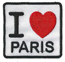 Patch écusson patche I love Paris souvenir parisien France brodé thermocollant