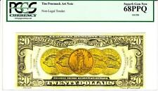 TIM PRUSMACK MONEY ART $20 GOLD COINS PCGS SUPERB GEM NEW 68PPQ SPECTACULAR!!!