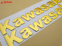 """8"""" Gold 3D Fuel Gas Tank Fairing Body Emblem Decal Sticker for Kawasaki 20cm New"""