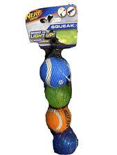 Nerf Balls Dog Squeaker/Light Up S/M 1.5'' - Pack Of 4 Balls
