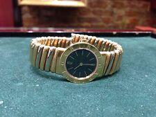 BULGARI Tubogas 18K Yellow & White Gold Bangle Watch Quartz Ref. BB 26 2T