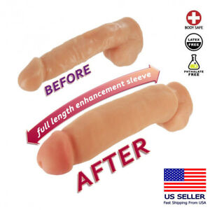 Huge Thick Penis Enlarger Sleeve Sex Enhancer Cock Erection Long Girth Extender