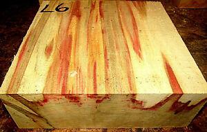 "ONE LARGE FLAME BOXELDER BOWL BLANK TURNING WOOD LUMBER LATHE 9"" x 9"" x 3"" L6"