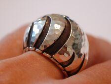 Nwt John Hardy silver Palu Macan large dome  Ring W/pouch $495 sz 7