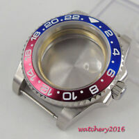 40MM PARNIS Stainless steel Sapphire Crystal Watch Case Fit 8215 2836 Movement