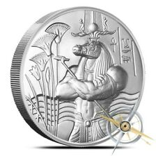 2 oz Sobek Ultra Hi Relief Silver Round .999 Egyptian Gods Heidi Wastweet