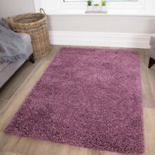 Soft Touch Purple Mauve Shaggy Rugs Non Shedding Living Room Bedroom Shag Rug