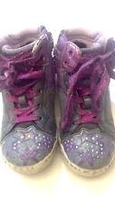 GEOX respira - scarpe da bambina alte - grigie con disegni viola - N° 29 - USATE