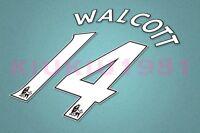 Arsenal Walcott #14 PREMIER LEAGUE 07-13 White Name/Number Set